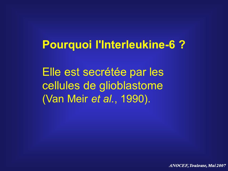 Pourquoi l Interleukine-6