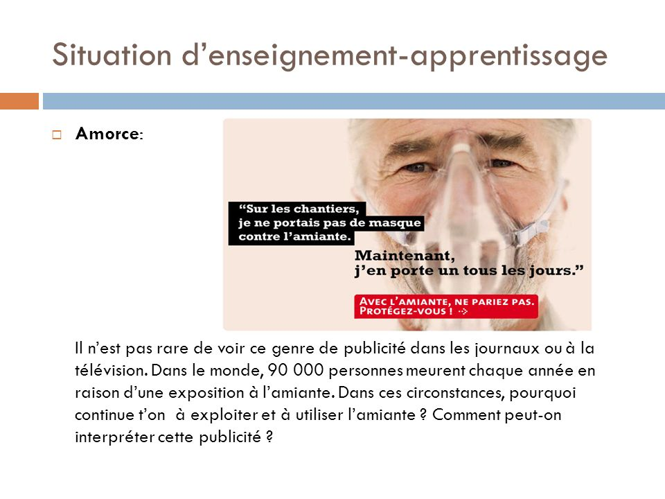Situation d'enseignement-apprentissage