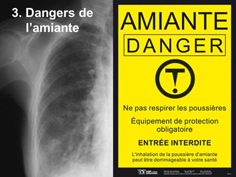 3. Dangers de l'amiante