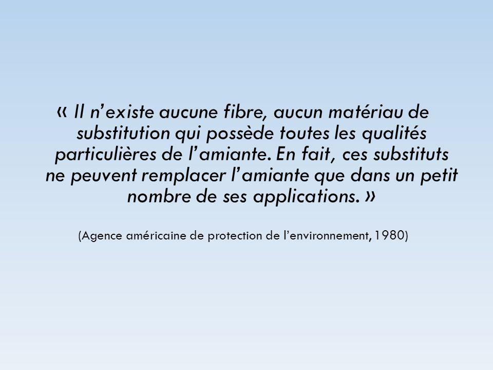 (Agence américaine de protection de l'environnement, 1980)