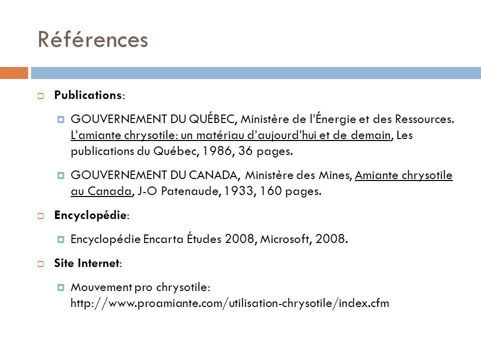 Références Publications: