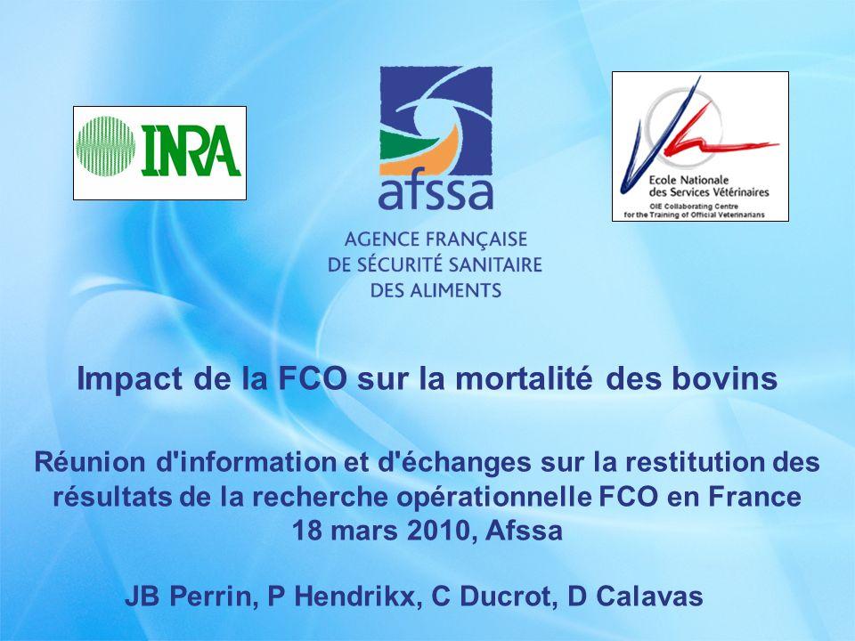 Impact de la FCO sur la mortalité des bovins