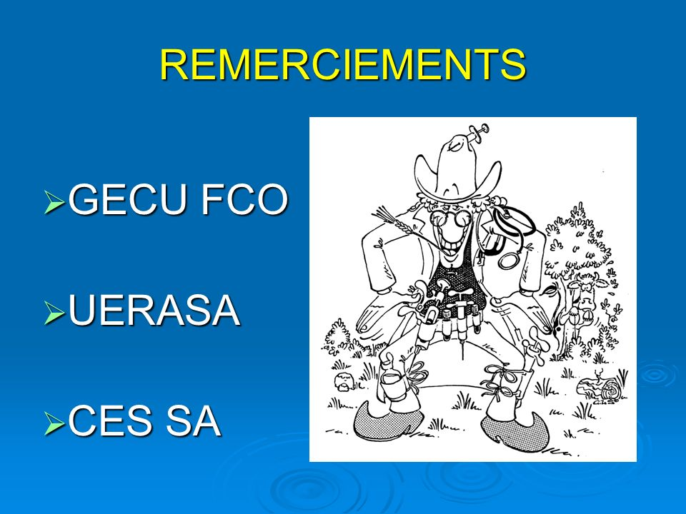 REMERCIEMENTS GECU FCO UERASA CES SA