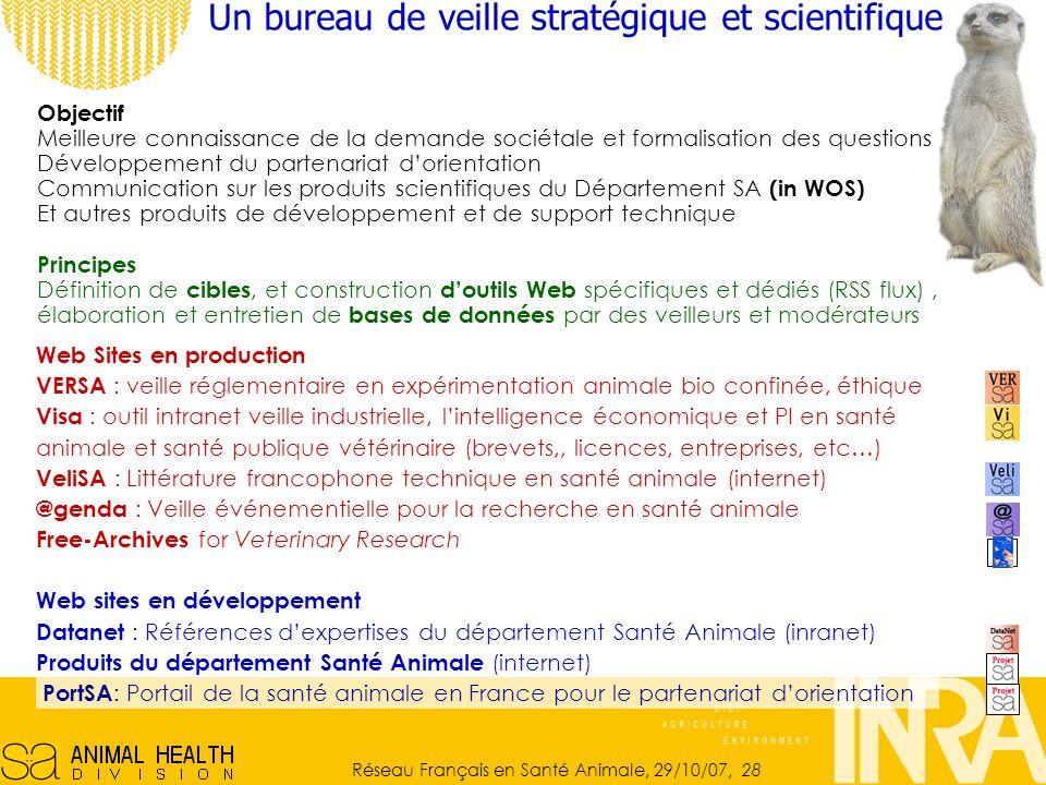 Un bureau de veille stratégique et scientifique