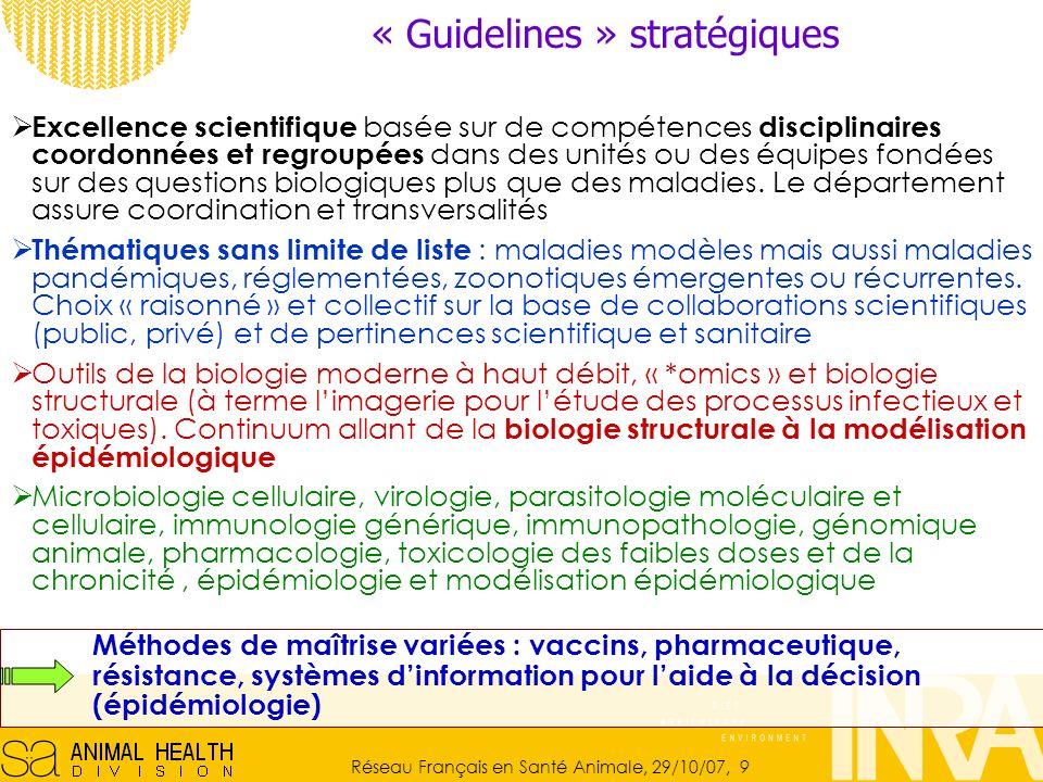 « Guidelines » stratégiques