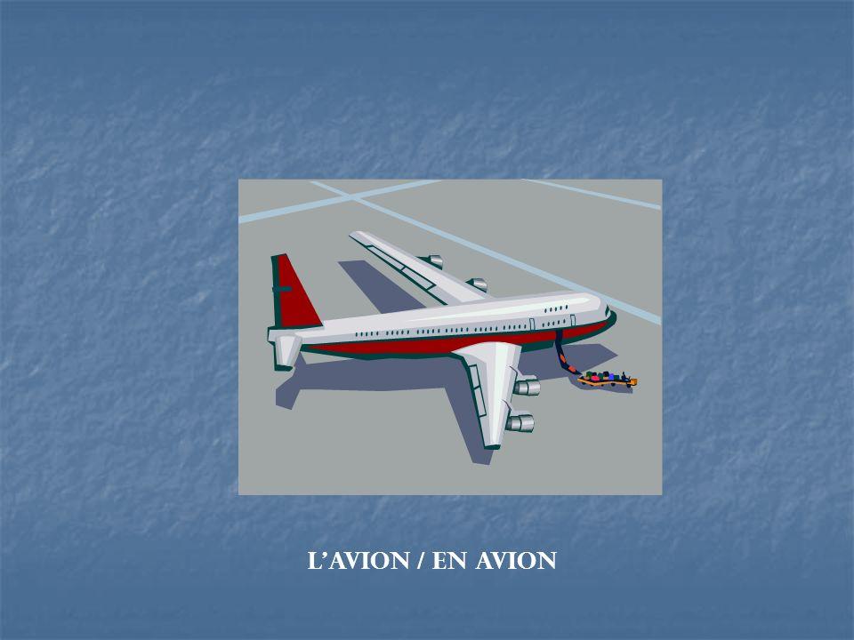 L'avion / en avion