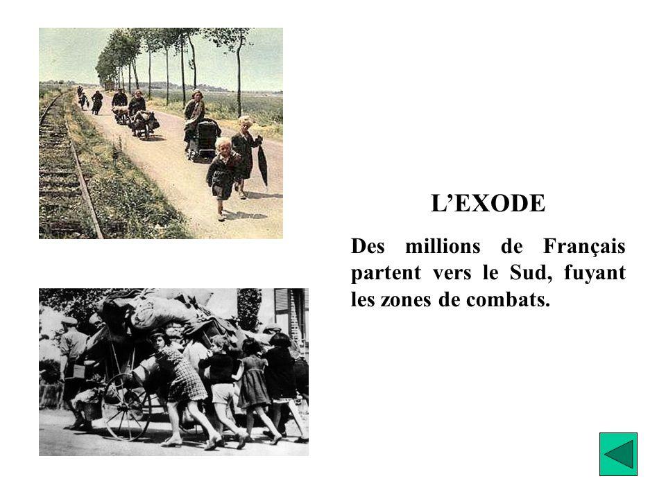 L'EXODE Des millions de Français partent vers le Sud, fuyant les zones de combats.