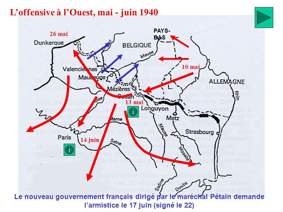 L'offensive à l'Ouest, mai - juin 1940