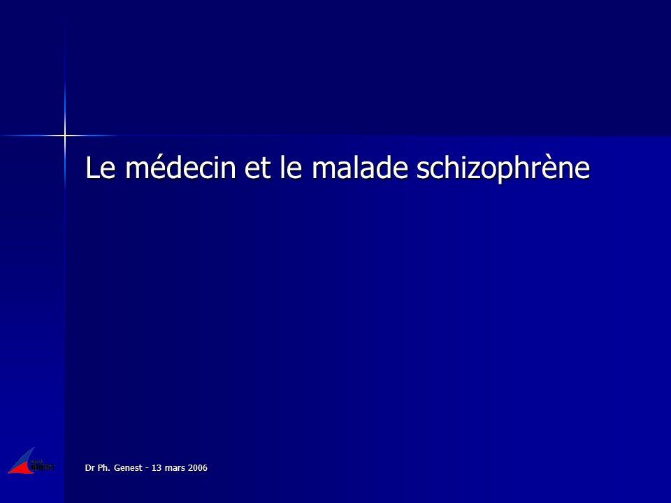 Le médecin et le malade schizophrène