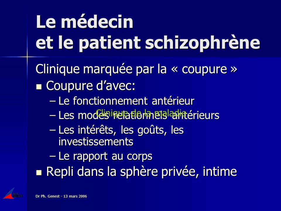 Le médecin et le patient schizophrène