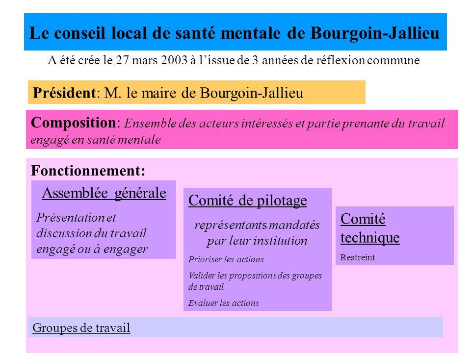 Le conseil local de santé mentale de Bourgoin-Jallieu
