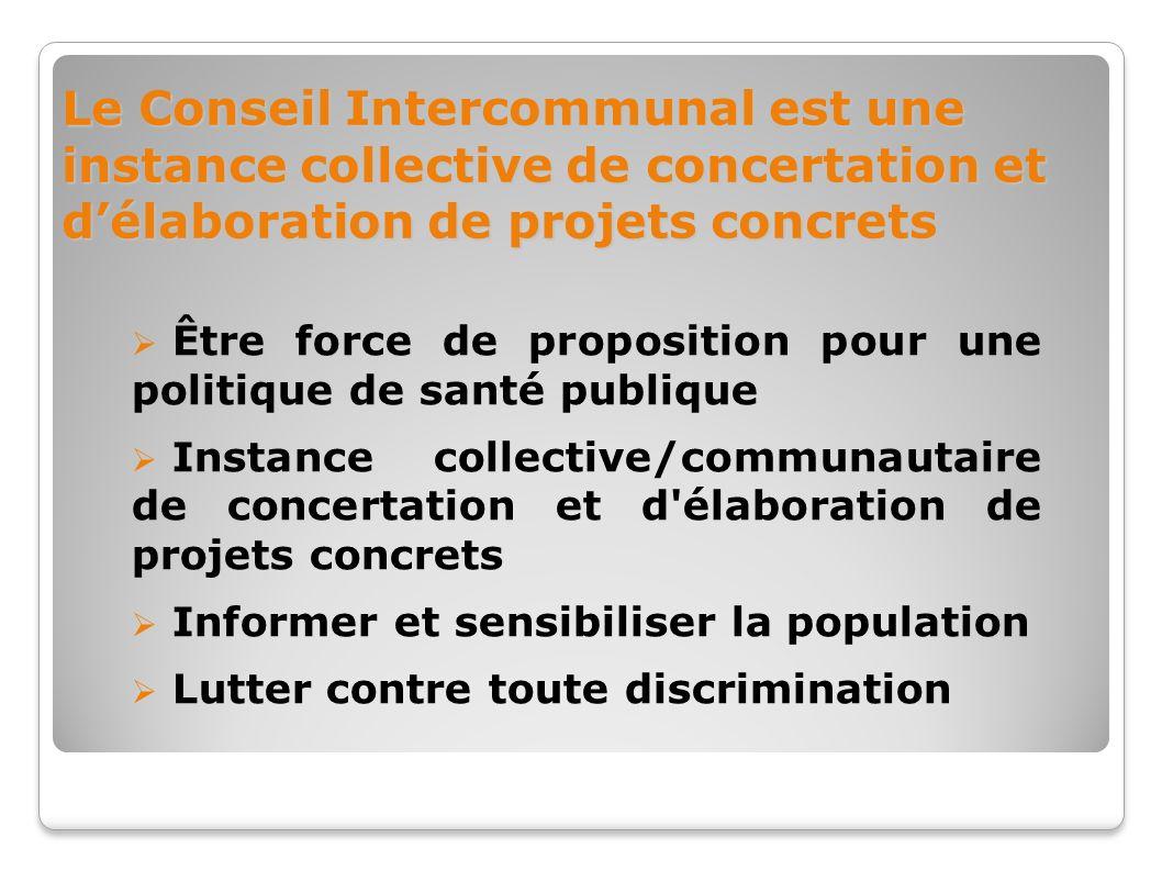 Le Conseil Intercommunal est une instance collective de concertation et d'élaboration de projets concrets