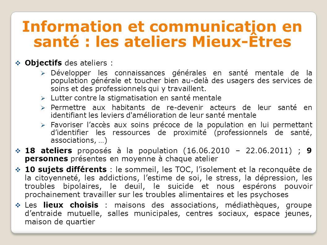 Information et communication en santé : les ateliers Mieux-Êtres