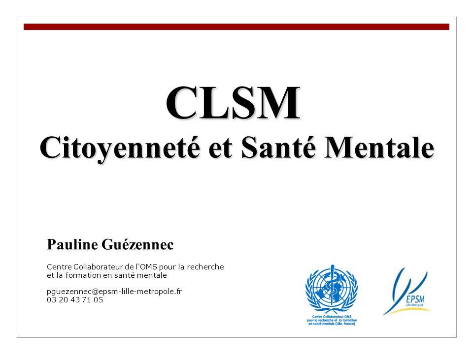 Citoyenneté et Santé Mentale