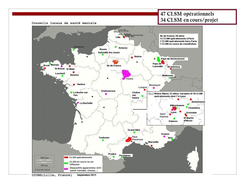 47 CLSM opérationnels 34 CLSM en cours/projet 12/10/11 12/10/11