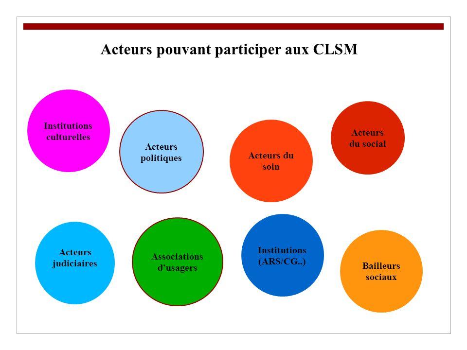Acteurs pouvant participer aux CLSM