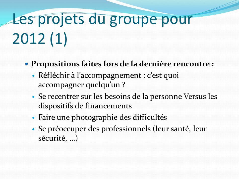Les projets du groupe pour 2012 (1)