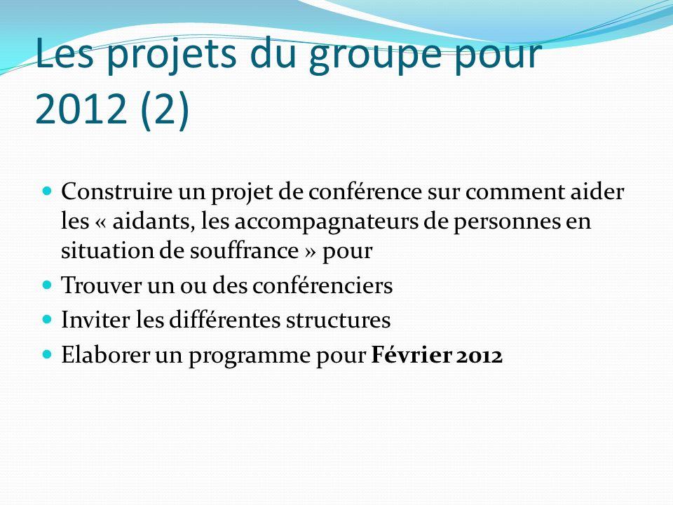 Les projets du groupe pour 2012 (2)