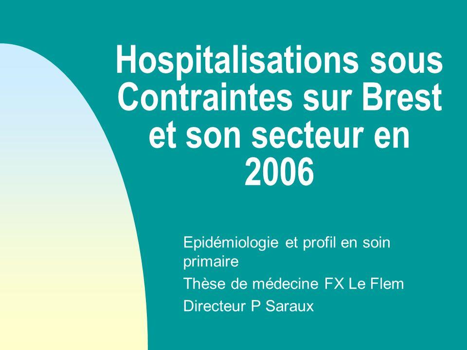 Hospitalisations sous Contraintes sur Brest et son secteur en 2006