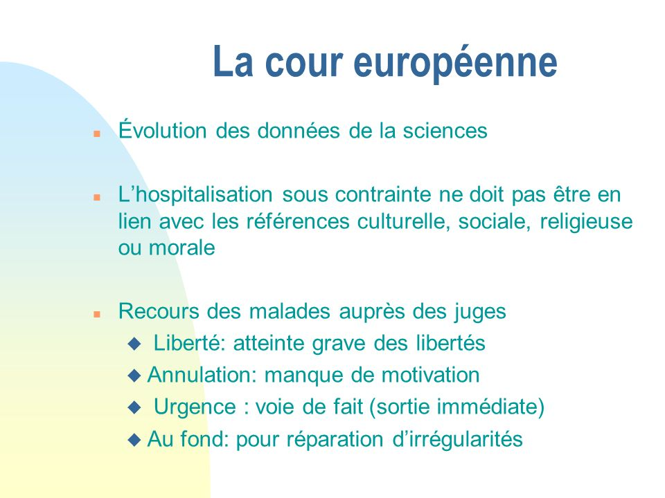 La cour européenne Évolution des données de la sciences