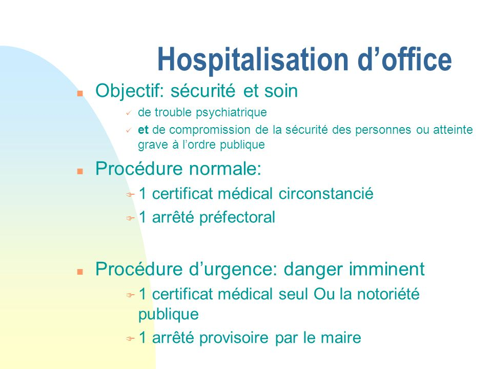 Hospitalisation d'office