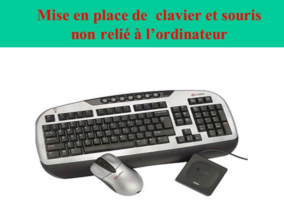 Mise en place de clavier et souris non relié à l'ordinateur