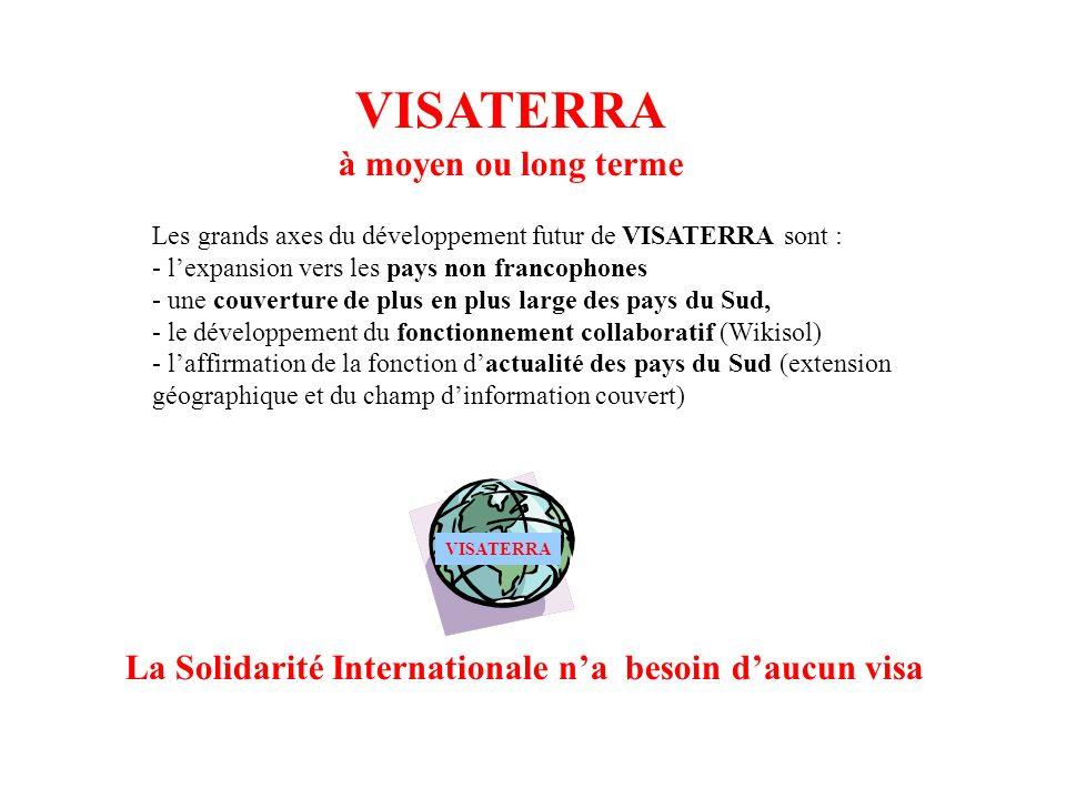 La Solidarité Internationale n'a besoin d'aucun visa