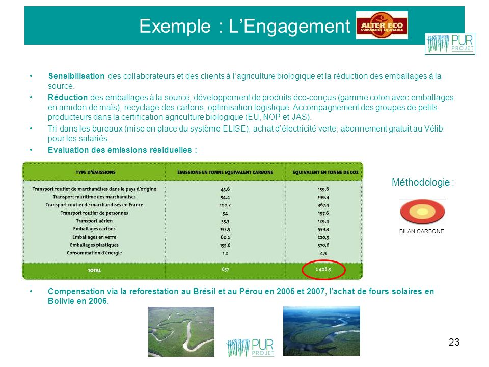 Exemple : L'Engagement