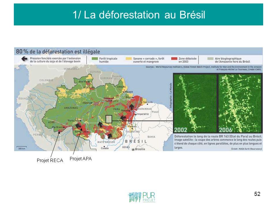 1/ La déforestation au Brésil