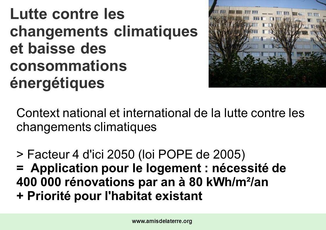 Lutte contre les changements climatiques et baisse des consommations énergétiques