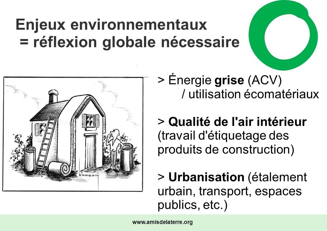 Enjeux environnementaux = réflexion globale nécessaire