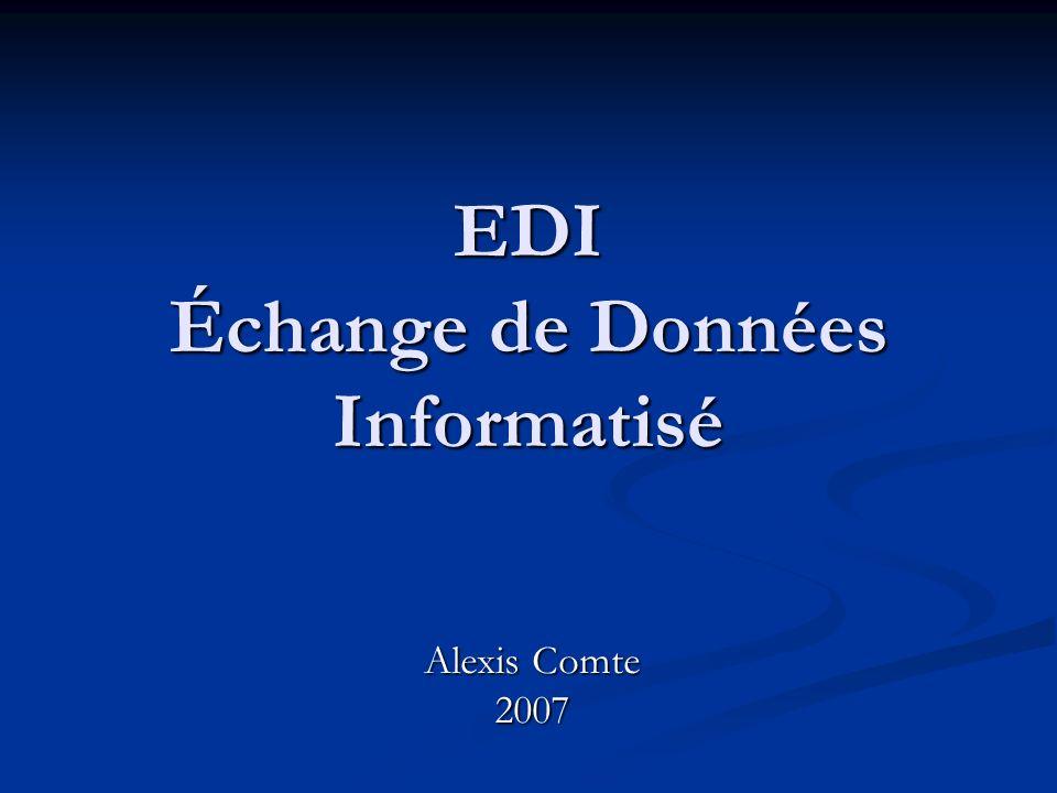 EDI Échange de Données Informatisé