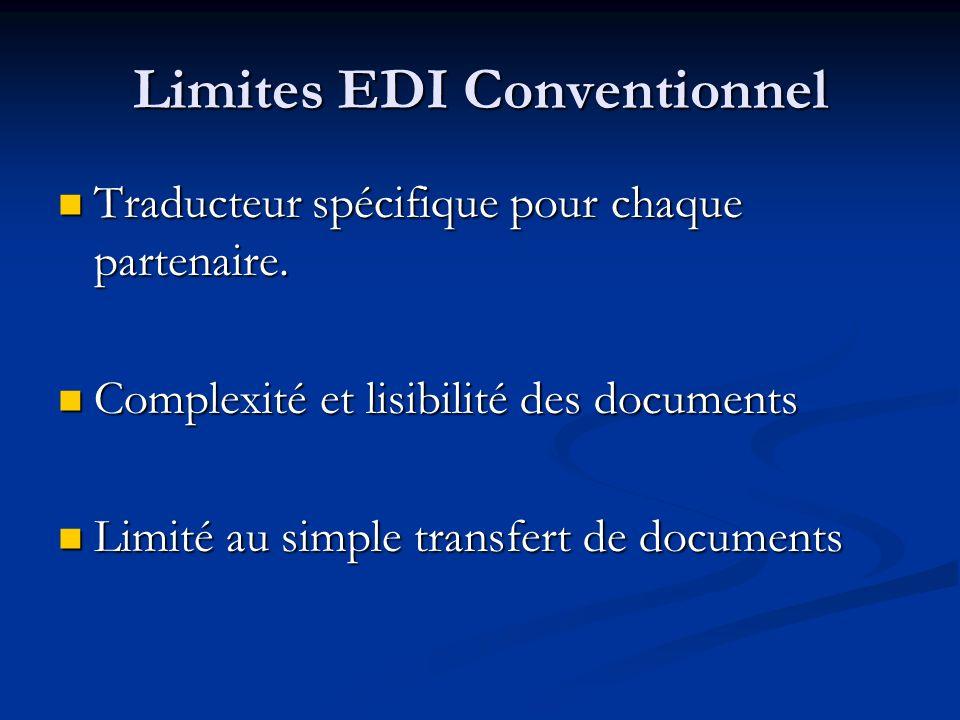 Limites EDI Conventionnel