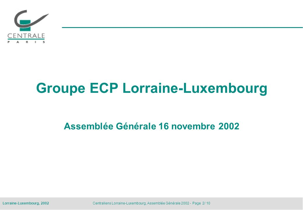Groupe ECP Lorraine-Luxembourg