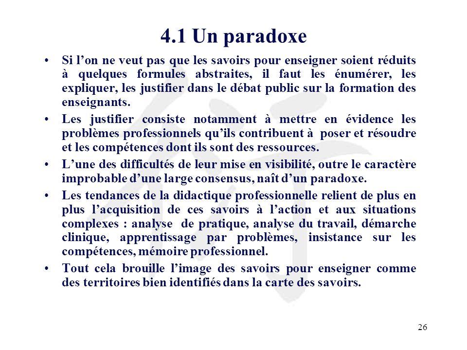 4.1 Un paradoxe