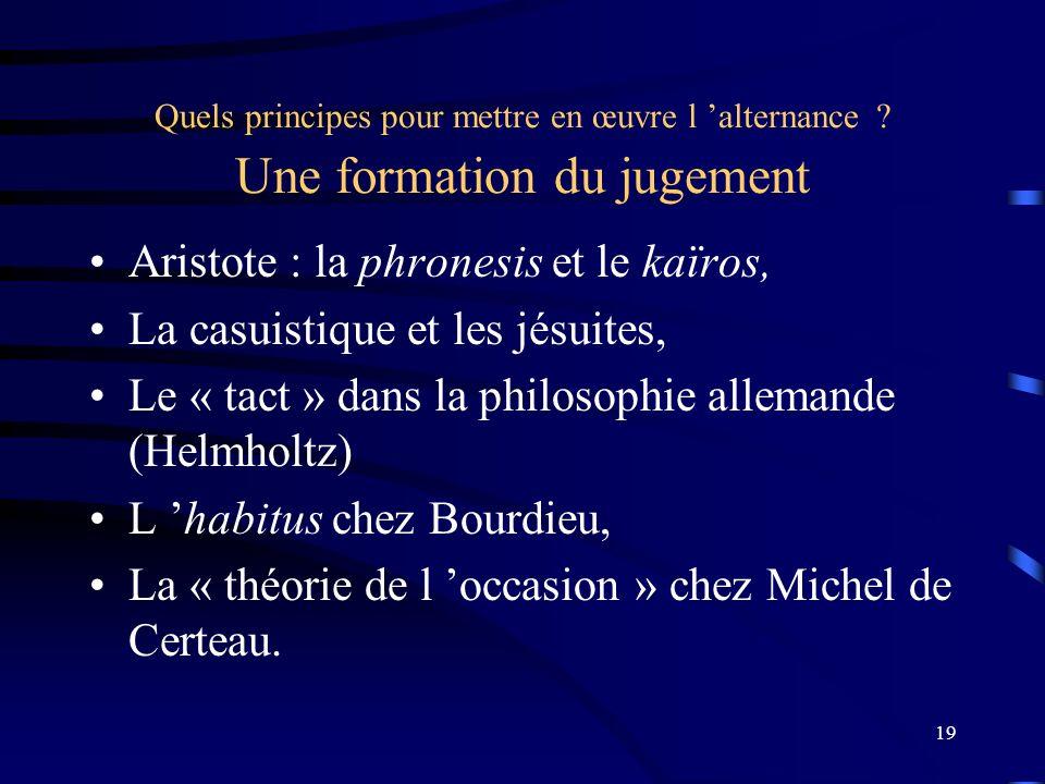 Aristote : la phronesis et le kaïros, La casuistique et les jésuites,