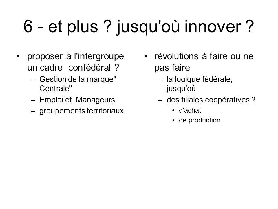 6 - et plus jusqu où innover