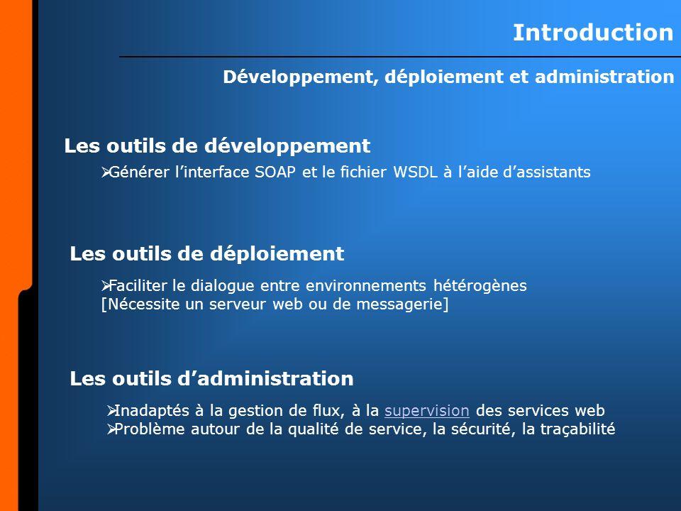 Développement, déploiement et administration
