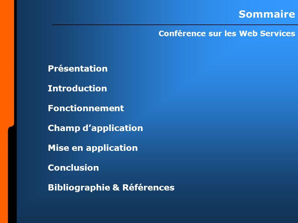 Conférence sur les Web Services