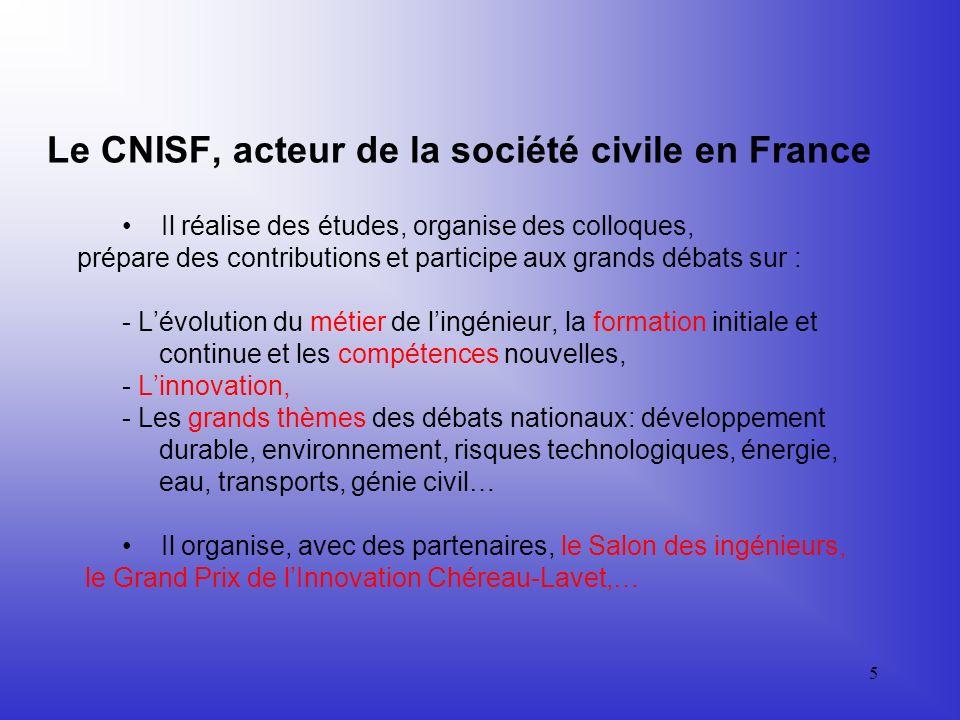 Le CNISF, acteur de la société civile en France