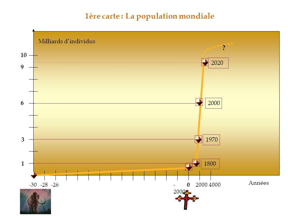 1ère carte : La population mondiale