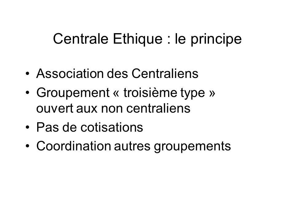Centrale Ethique : le principe