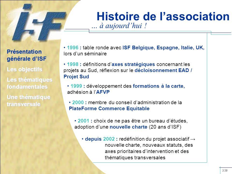 Histoire de l'association