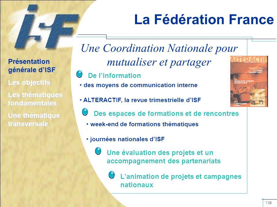 Une Coordination Nationale pour mutualiser et partager