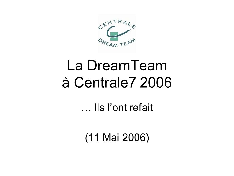 La DreamTeam à Centrale7 2006