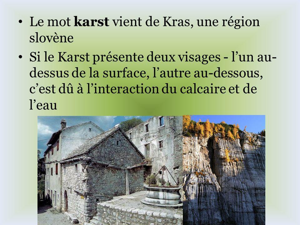 Le mot karst vient de Kras, une région slovène