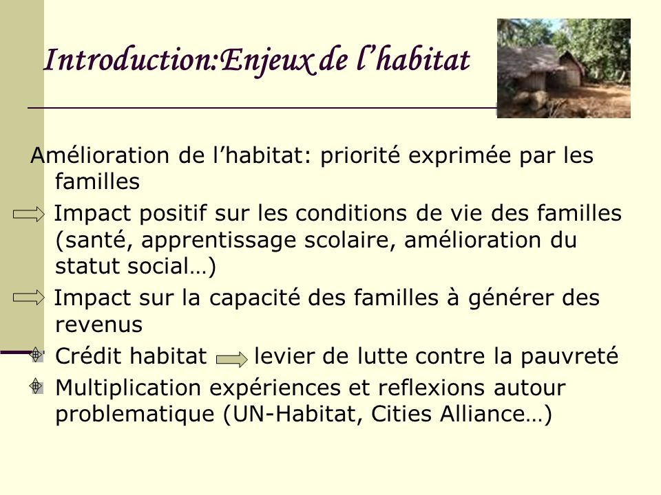 Introduction:Enjeux de l'habitat