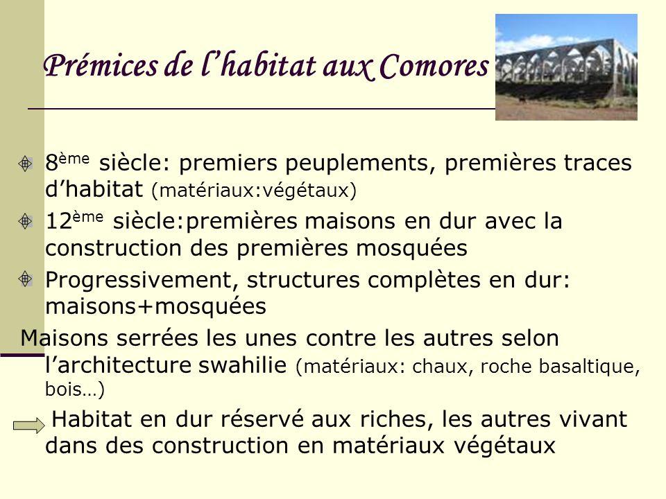 Prémices de l'habitat aux Comores