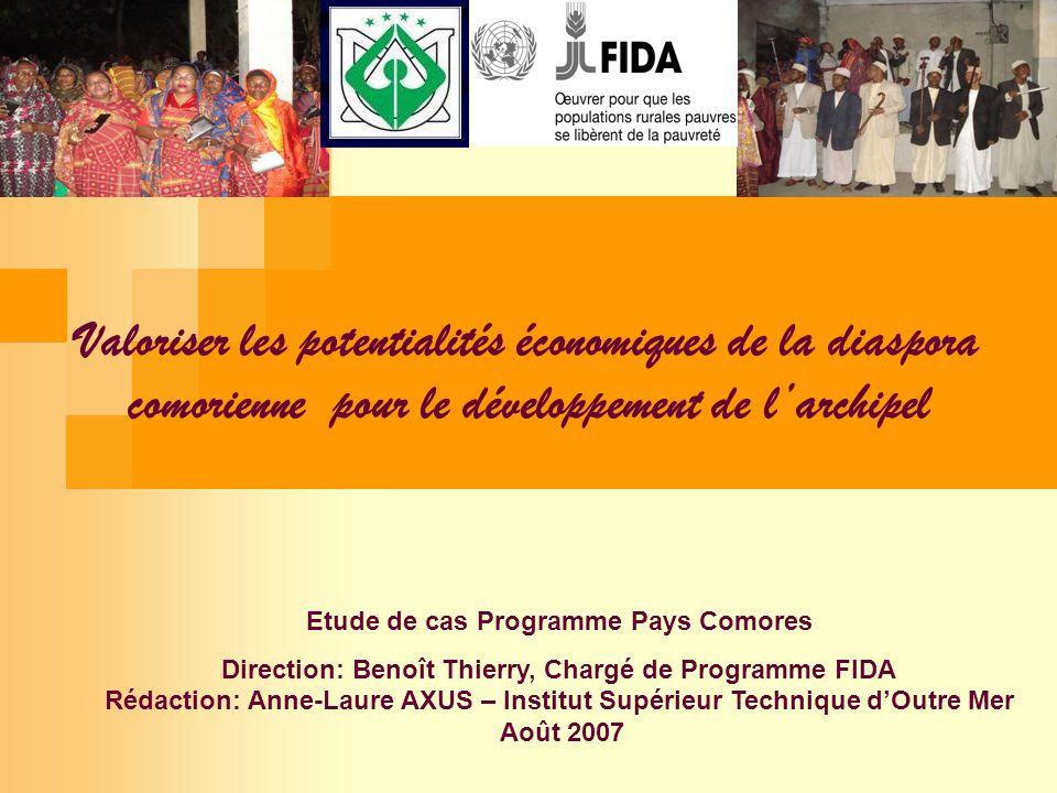 Etude de cas Programme Pays Comores