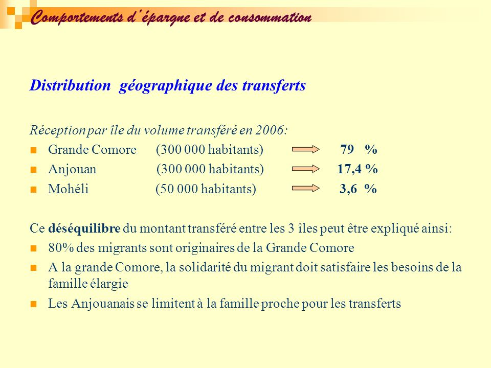 Comportements d'épargne et de consommation